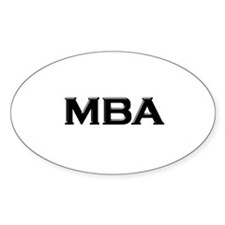 MBA / M.B.A. Oval Decal