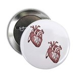 Two Hearts 2.25&Quot; Button