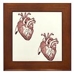 Two Hearts Framed Tile