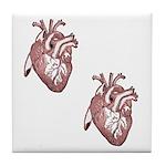 Two Hearts Tile Coaster