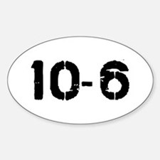 10-6 Oval Decal