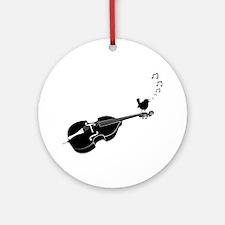 Song-Bird-01-a Round Ornament