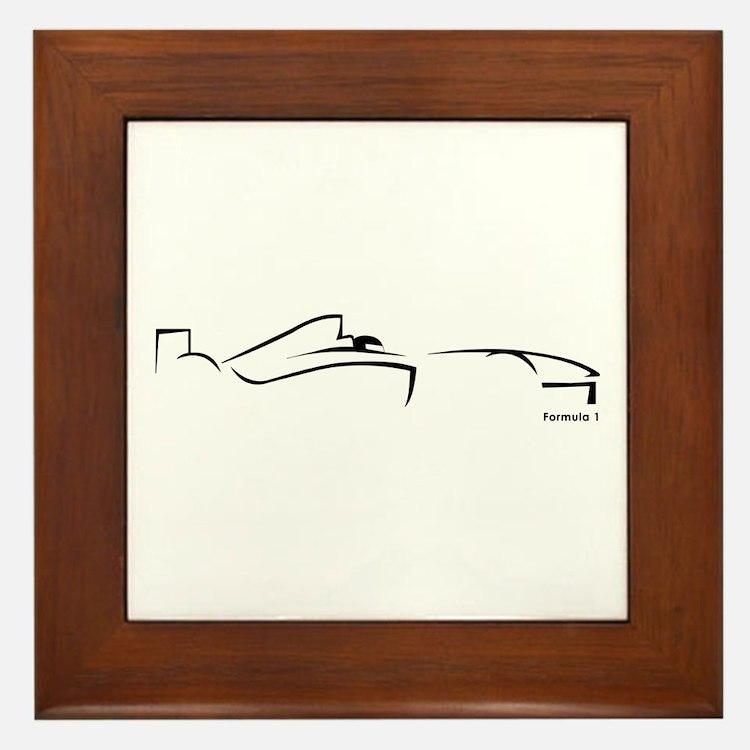 Formula 1 Black Framed Tile