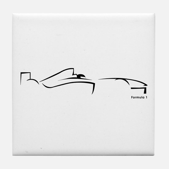 Formula 1 Black Tile Coaster