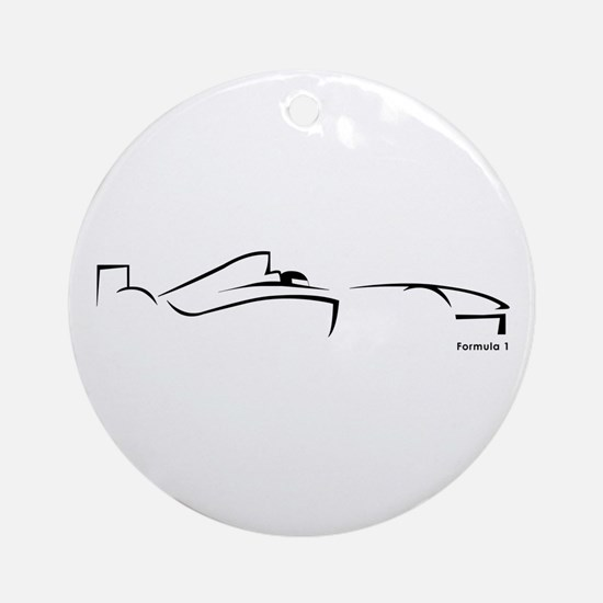 Formula 1 Black Ornament (Round)