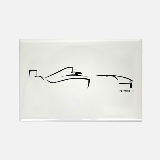 Formula 1 Black Rectangle Magnet