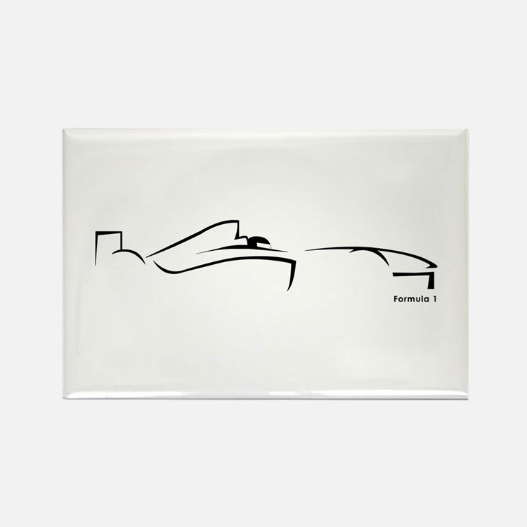 Formula 1 Black Rectangle Magnet