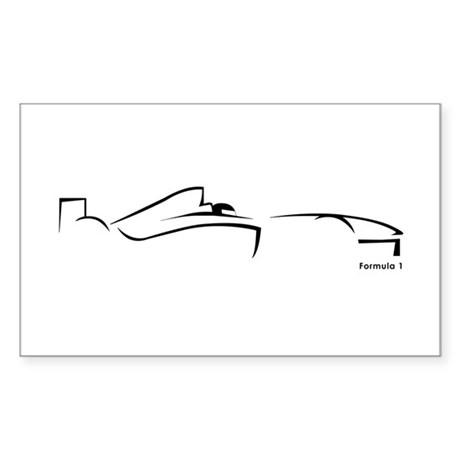 Formula 1 Black Rectangle Sticker