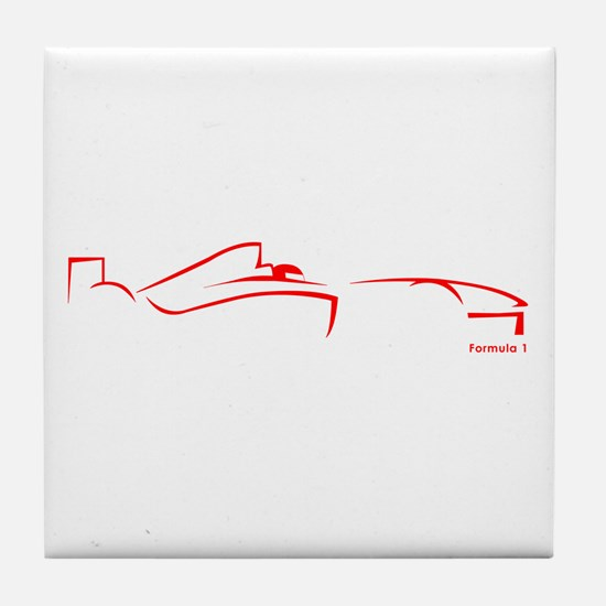 Formula 1 Red Tile Coaster