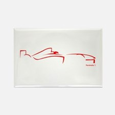 Formula 1 Red Rectangle Magnet (10 pack)