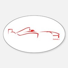 Formula 1 Red Oval Decal