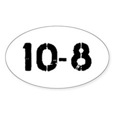 10-8 Oval Decal