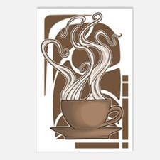 Coffee Nouveau Postcards (Package of 8)