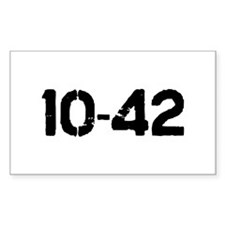 10-42 Rectangle Decal