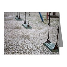 Swing set in playground Note Cards (Pk of 20)