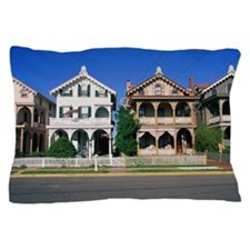 Residential street in Cape May, NJ Pillow Case