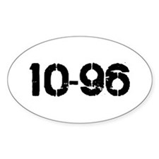 10-96 Oval Decal