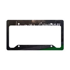 Happy Christmas sign License Plate Holder