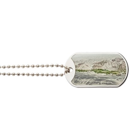 Flying over Nazca Lines Dog Tags