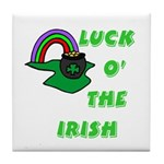 Luck O' the Irish Tile Coaster