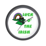 Luck O' the Irish Wall Clock