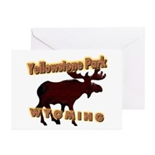 Yellowstone Park Wyoming Moos Greeting Cards (Pack
