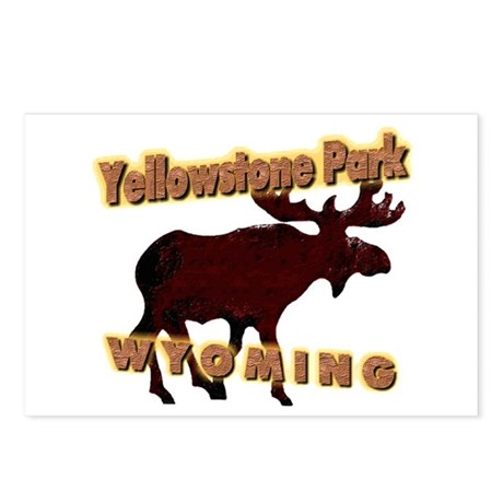 Yellowstone Park Wyoming Moos Postcards (Package o