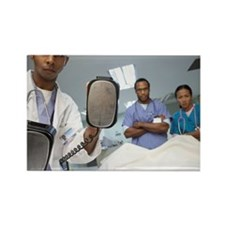 Medical Team Treating Patient Rectangle Magnet