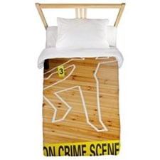 Crime Scene Twin Duvet