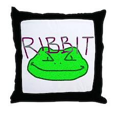 Ribbit Throw Pillow