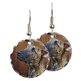 Elk earrings Round