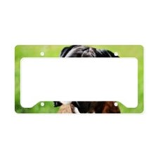 Boxer Dog License Plate Holder