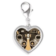 Optometric instrument Silver Heart Charm