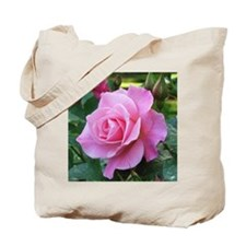 Close up of pink flower Tote Bag