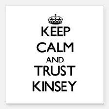 """Keep Calm and trust Kinsey Square Car Magnet 3"""" x"""