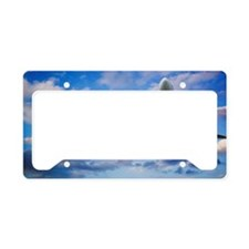 Airplane in Sky License Plate Holder