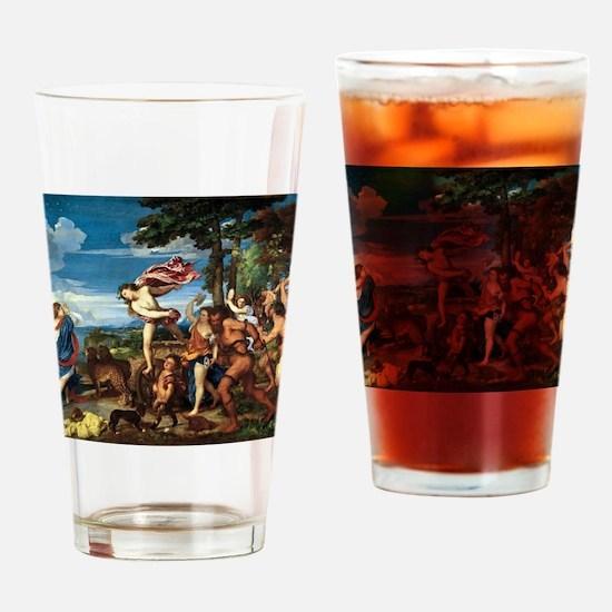 Bacchus and Ariadne - Titian - c1520 Drinking Glas