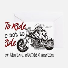To Ride Greeting Card