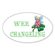 Wee Changeling Oval Decal