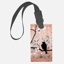 Elegant Dogwoods on Peach and Si Luggage Tag