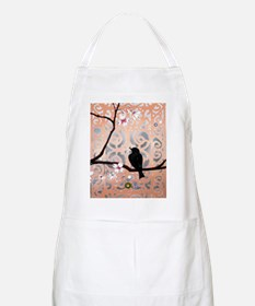 Elegant Dogwoods on Peach and Silver Apron