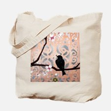 Elegant Dogwoods on Peach and Silver Tote Bag
