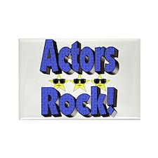 Actors Rock! Rectangle Magnet