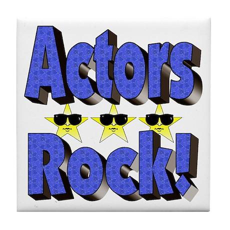 Actors Rock! Tile Coaster