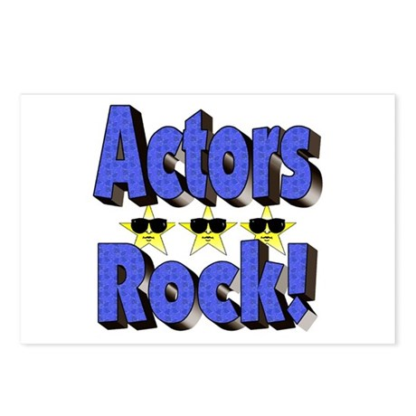 Actors Rock! Postcards (Package of 8)