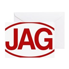 Jag2 rd for yellow Greeting Card
