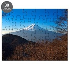 Mount Fuji taken from hill Puzzle