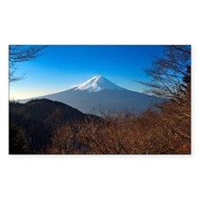 Mount Fuji taken from hill Decal