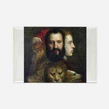 Allegory of Prudence - Titian - c1566 Magnets