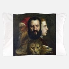 Allegory of Prudence - Titian - c1566 Pillow Case